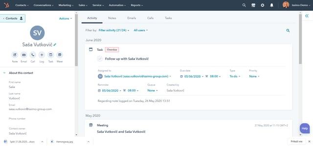 HubSpot platforma_CRM obrazec